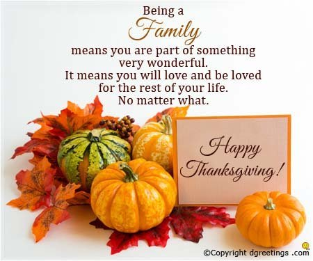 Happy Thanksgiving Wishes for Family