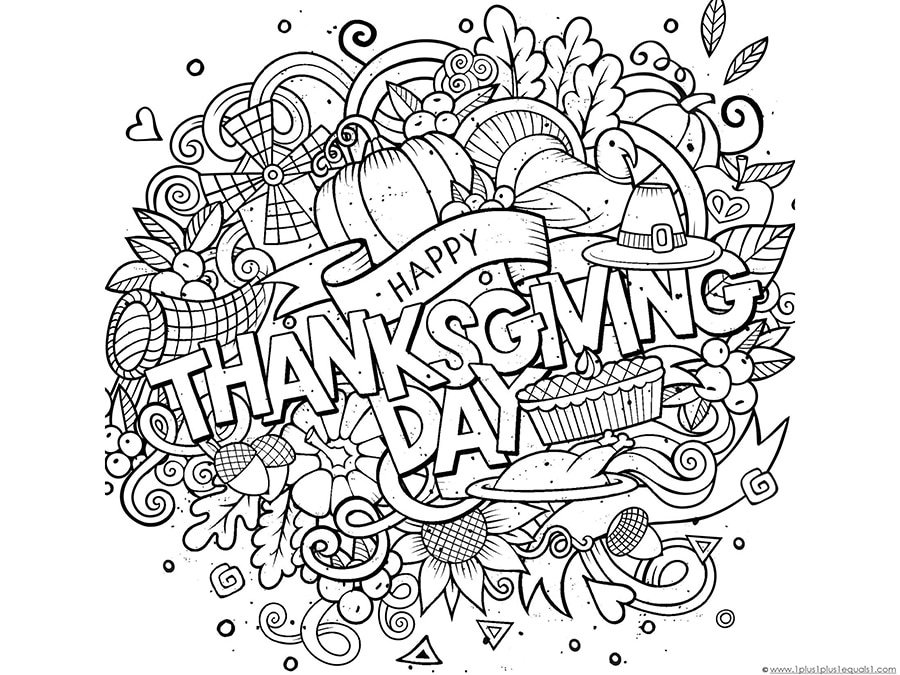 Printable Thanksgiving Coloring Pages For Free Adults Kids